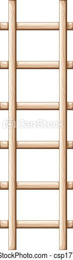 Vector Clip Art of A wooden ladder - Illustration of a wooden ...