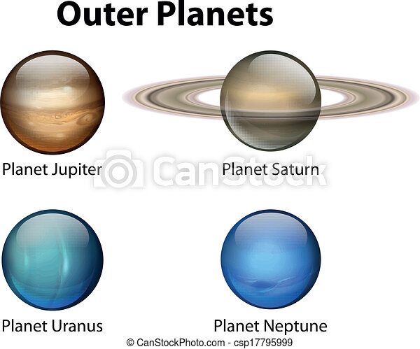 EPS Vectors of Outer Planets - Illustration showing the ...
