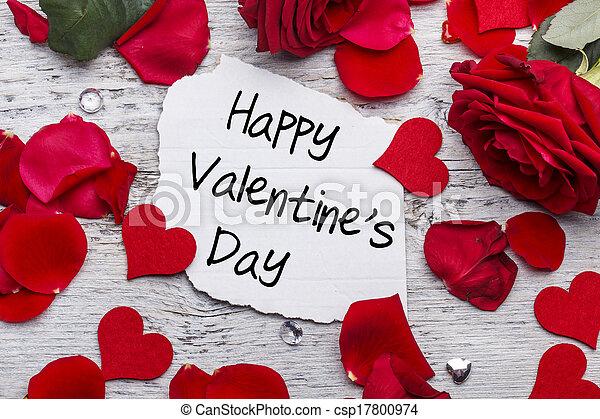 valentines, Dia, Feliz - csp17800974