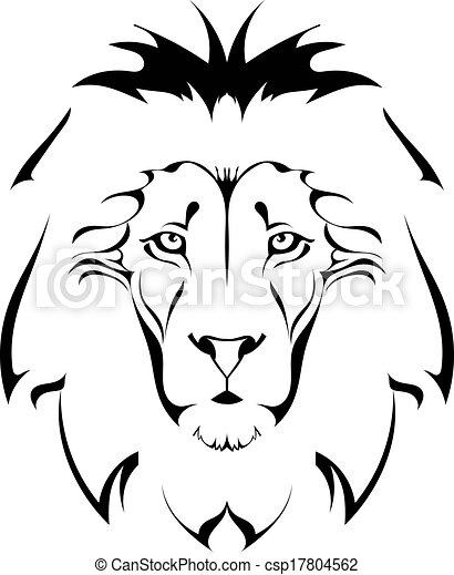 Clip Art Vecteur de lion, tête, tatouage csp17804562 - Recherchez des ...