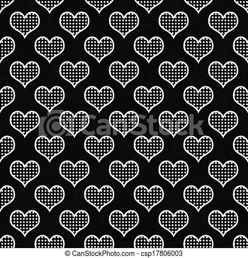 White Dot Black Background Black And White Polka Dot