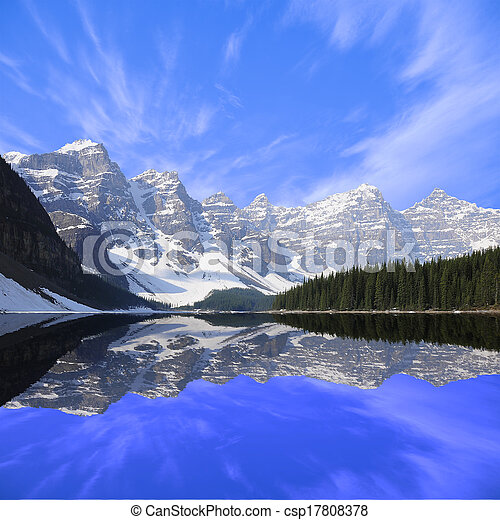 Moraine lake.  - csp17808378