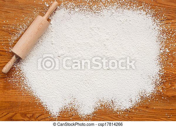 mjöl, bakning, struktur, bakgrund - csp17814266