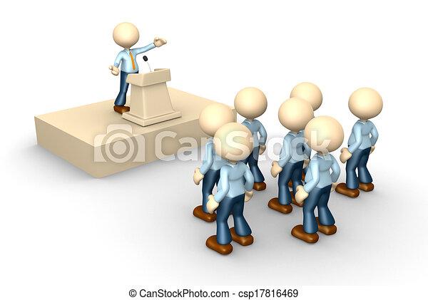 Stock de Ilustracion de Oratoria, Tribune - 3D, gente ...