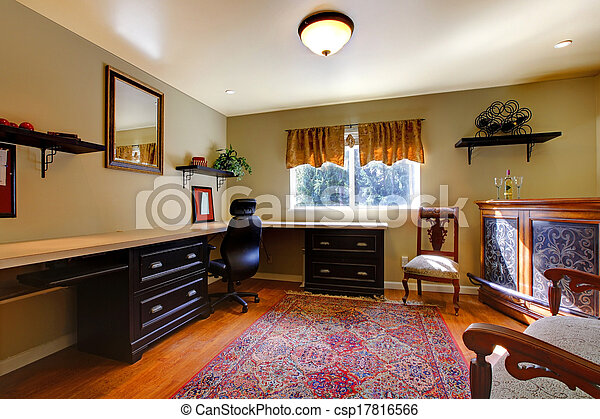 Elegant antique office room - csp17816566