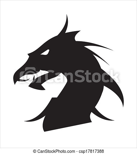 Vector - dragon head - stock illustration, royalty free illustrations ...