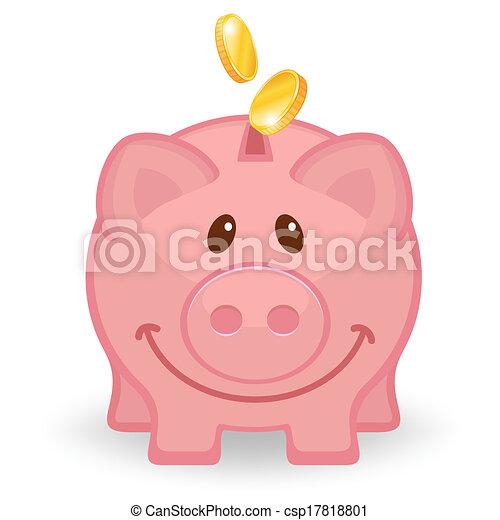 Similiar Cute Piggy Bank Coins Clip Art Keywords