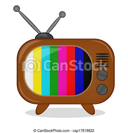 illustration vecteur de retro tv multi color raies. Black Bedroom Furniture Sets. Home Design Ideas