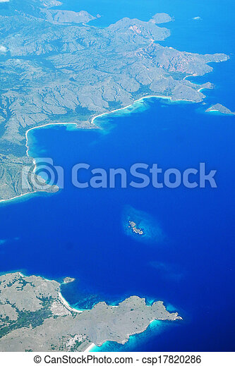 Aerial view of islands - csp17820286