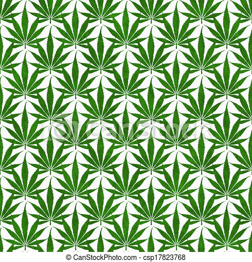 Stock Illustration of Green Marijuana Leaf Pattern Repeat ...