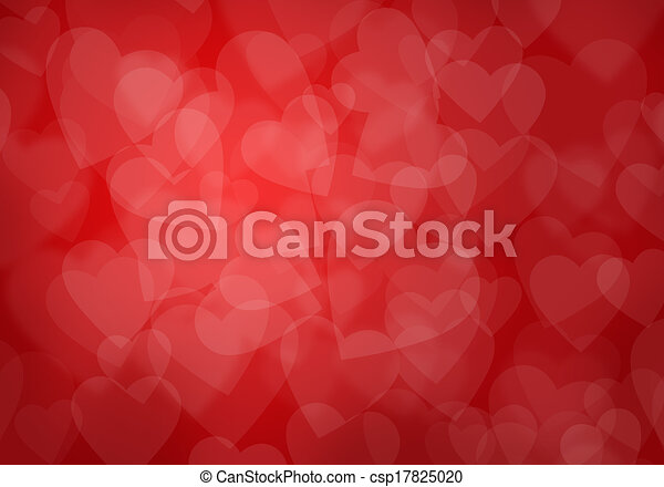 Valentine's day red hearts background - csp17825020