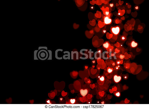 Valentine's day red hearts background - csp17825067