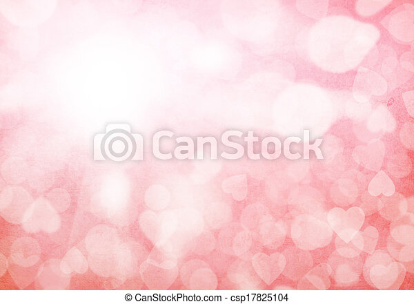 Valentine's day red hearts background - csp17825104