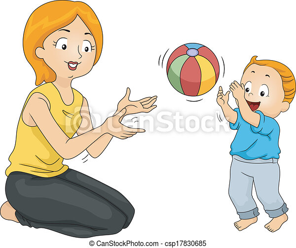 Vector of Mother and Son Bonding - Illustration of a ...