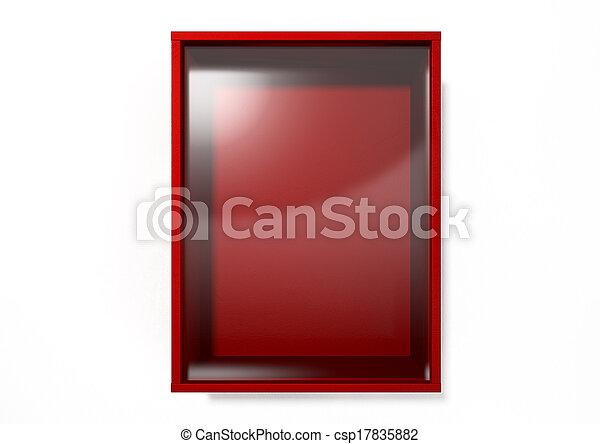 Break In Case Of Emergency Red Box - csp17835882