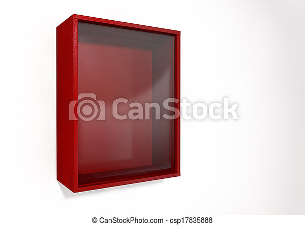 Break In Case Of Emergency Red Box - csp17835888