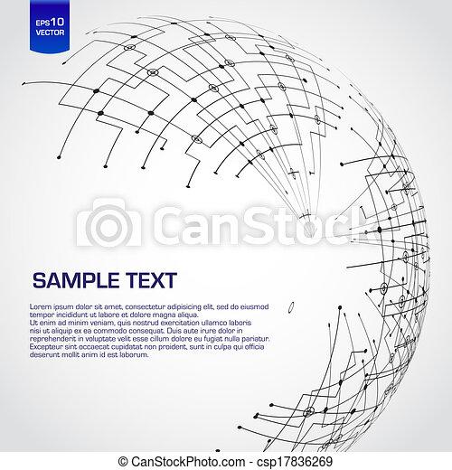 Abstract technology globe - csp17836269