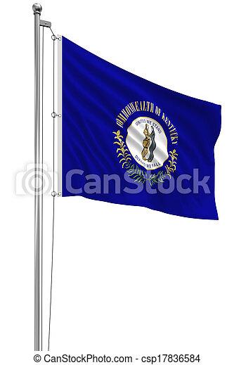 3D Kentucky Flag - csp17836584