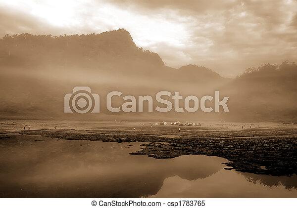mist lake and mountain - csp1783765