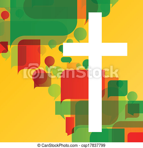 Christianity religion cross mosaic concept abstract background vector illustration for poster - csp17837799