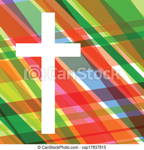 Christianity religion cross mosaic concept abstract background vector illustration for poster - csp17837815