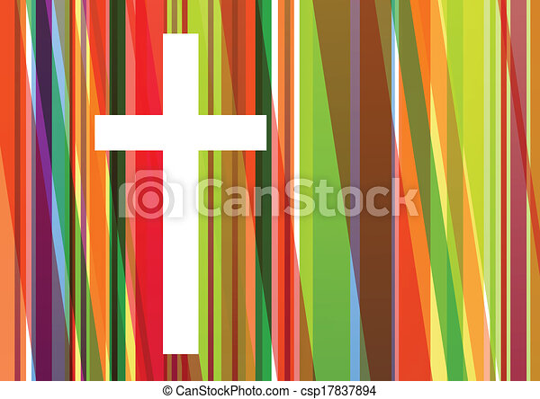 Christianity religion cross mosaic concept abstract background vector illustration for poster - csp17837894