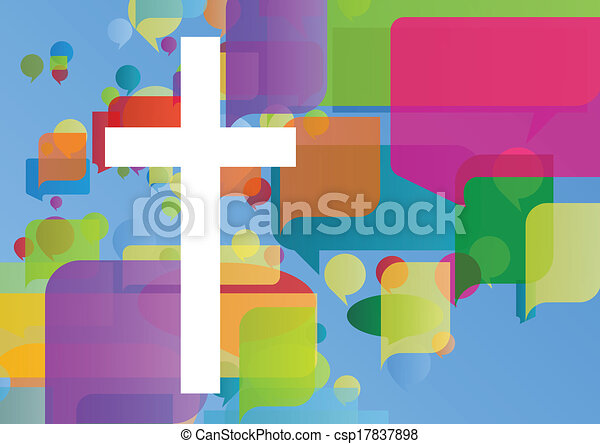 Christianity religion cross mosaic concept abstract background vector illustration for poster - csp17837898
