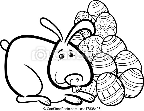 Clip Art Easter Bunny Coloring Pages