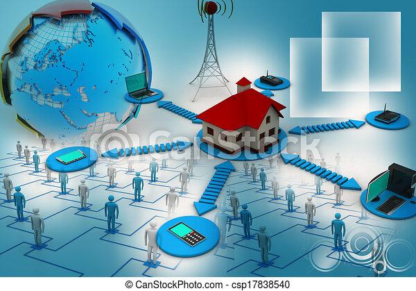 Smart home concept - csp17838540