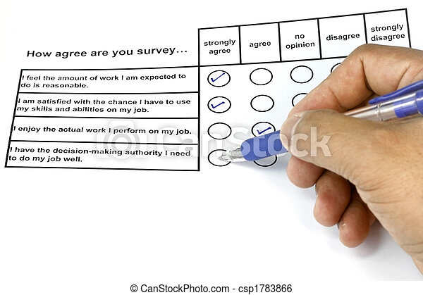 How Agree Are You Survey - csp1783866