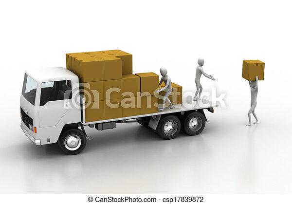 Stock de ilustraciones de transporte, Camiones, carga, entrega ...