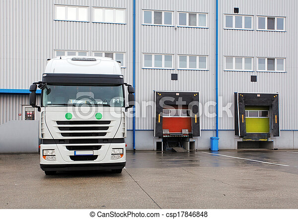 Cargo Transportation - Truck in the warehouse - csp17846848