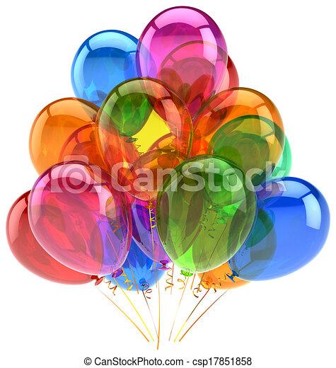 Balloons party birthday balloon - csp17851858