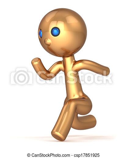 Running man pursuit character - csp17851925