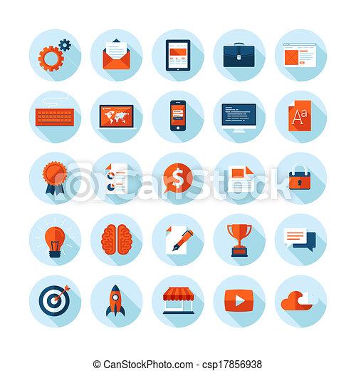 Flat design icons for web design - csp17856938