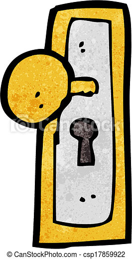 Vector illustration of cartoon door knob csp17859922 - Door handle clipart ...