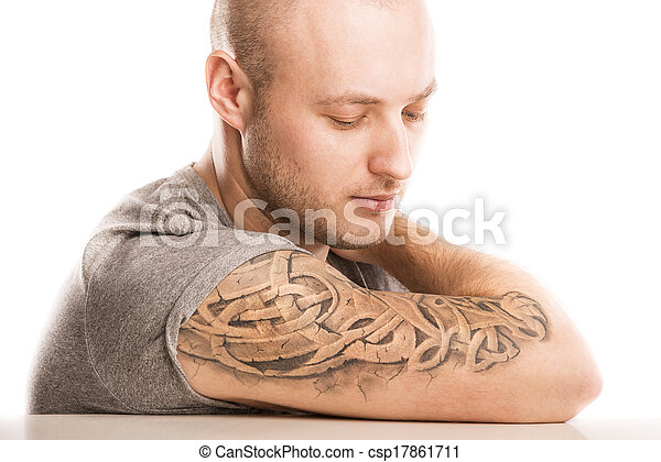 Man with tattoo - csp17861711