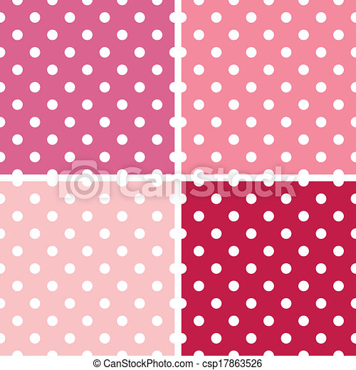 Dotted retro pattern collection for Valentine`s day - csp17863526