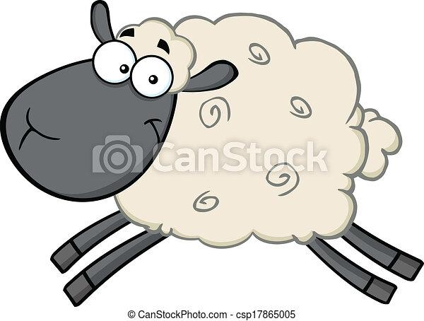 Clipart vecteur de noir t te mouton dessin anim - Dessin tete de mouton ...