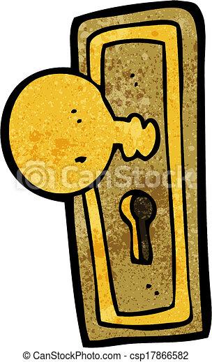 Vector of cartoon door knob csp17866582 search clip art - Door handle clipart ...