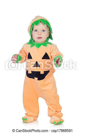 Stock de fotos rubio beb calabaza traje imagenes - Trajes de calabaza ...