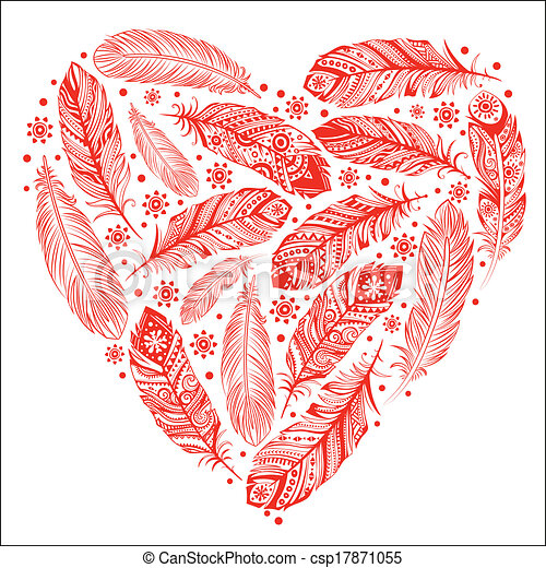 Beautiful Valentine's day heart - csp17871055