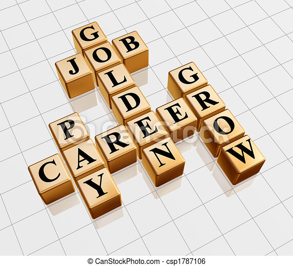 golden crossword - job, career, grow, pay - csp1787106