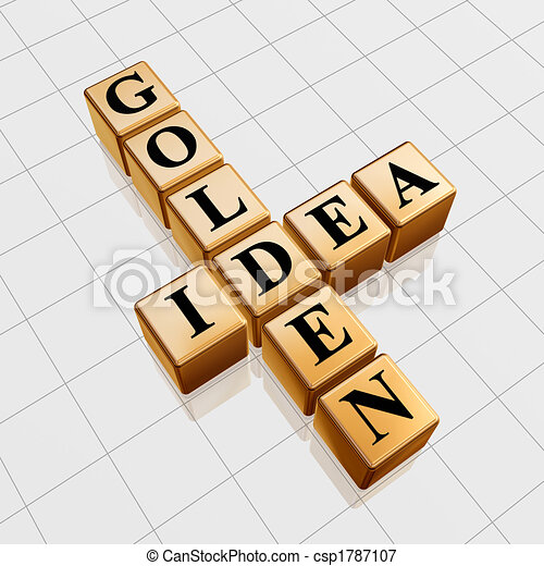 golden idea like crossword - csp1787107