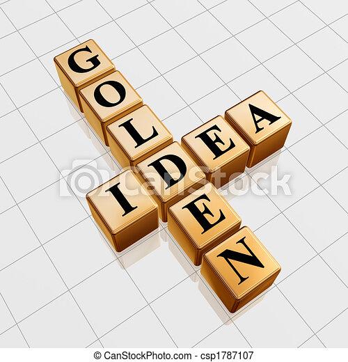golden idea like crossword - csp1787107