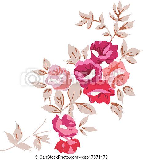 Vectors Illustration of Vintage Romantic Roses ...