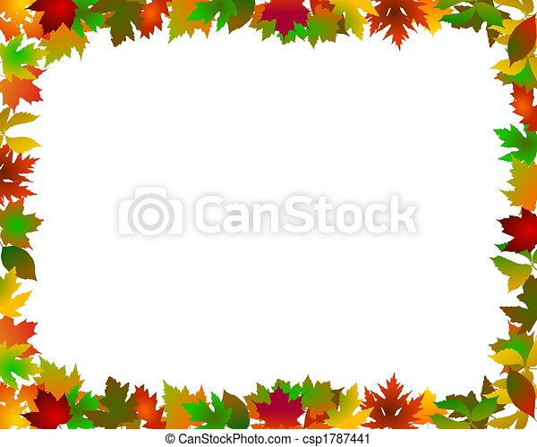 abstract frame autumn - csp1787441