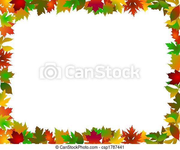 abstract frame autumn - csp1787441