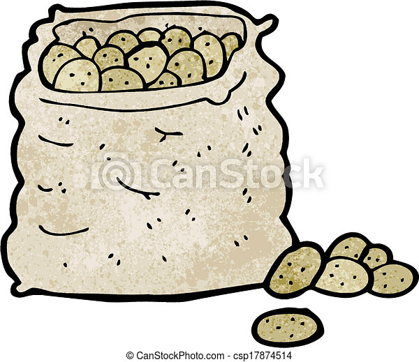 Cartoon Potato Sack