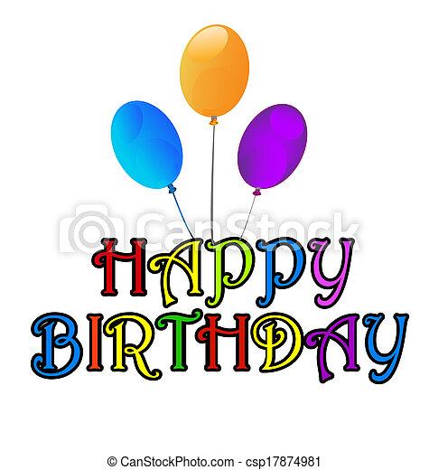 Happy Birthday greetings card - csp17874981